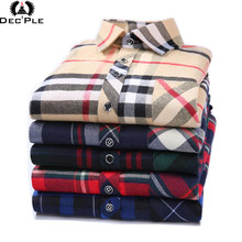 Buy 4XL Cotton Flannel Men Shirts 2017 fashion spring long plaid shirt men long sleeve plaid striped casual Shirt male plaid Shirts for $7.47 in AliExpress store