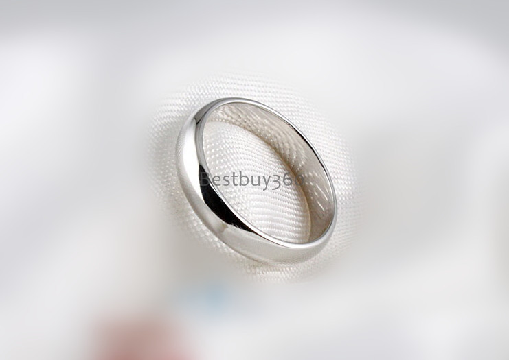 Sterling Silver High Polish Plain Dome Tarnish Resistant Comfort Fit forever Wedding Band love Ring for men and women(China (Mainland))