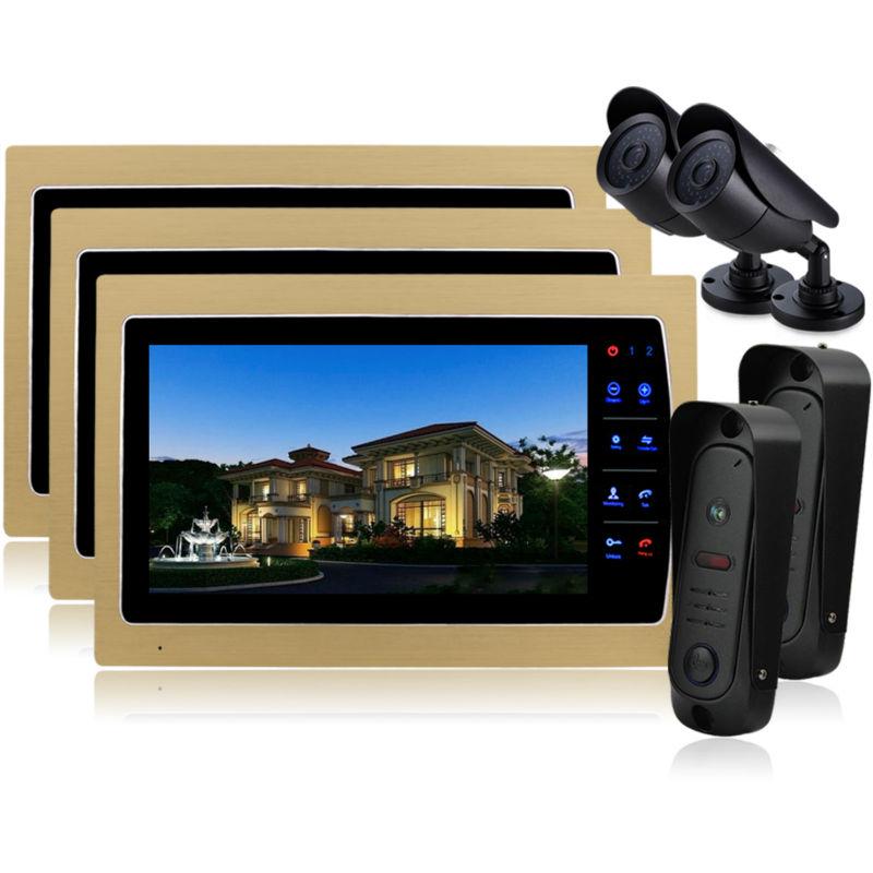 YSECU Home 10 Inch TFT Monitor Video Door Phone Intercom System Night Vision Doorphone Intercom Color CMOS Camera IP 65<br><br>Aliexpress