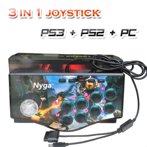3 in 1 Arcade Fighting Joystick USB Game Controller Gamepad Mame Street Fighter IV For PC PS2 PS3 Games(China (Mainland))