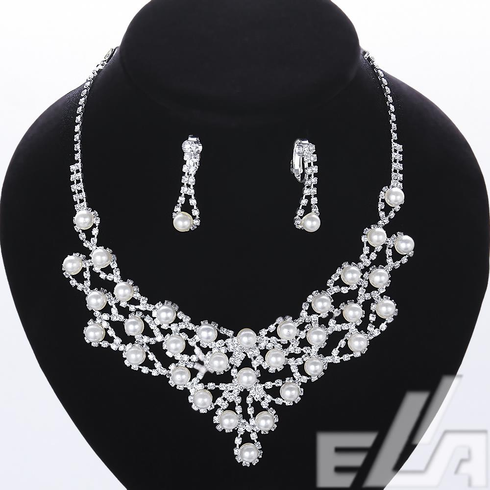 wholesale bijoux joias earrings neclaces for women colares jewellery wedding pearl jewelry set(China (Mainland))