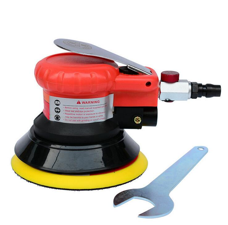 Swingable pneumatic eccentric grinding machine 125mm pneumatic sander 5 inch disc type pneumatic polishing machine(China (Mainland))