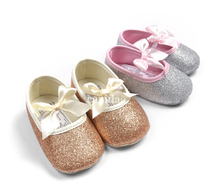 Free shipping 2013 New baby paillette shoes kids girl gold shoes baby girl shoes,toddler shoes bling sneakers 6pairs/lot hot(China (Mainland))