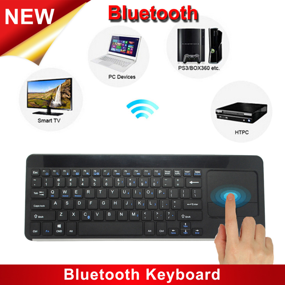 High Quality Ultra-thin IBK-14B Wireless Bluetooth Keyboard Touchpad Aluminum Alloy Keyboard For PC Laptop Tablet iPad(China (Mainland))