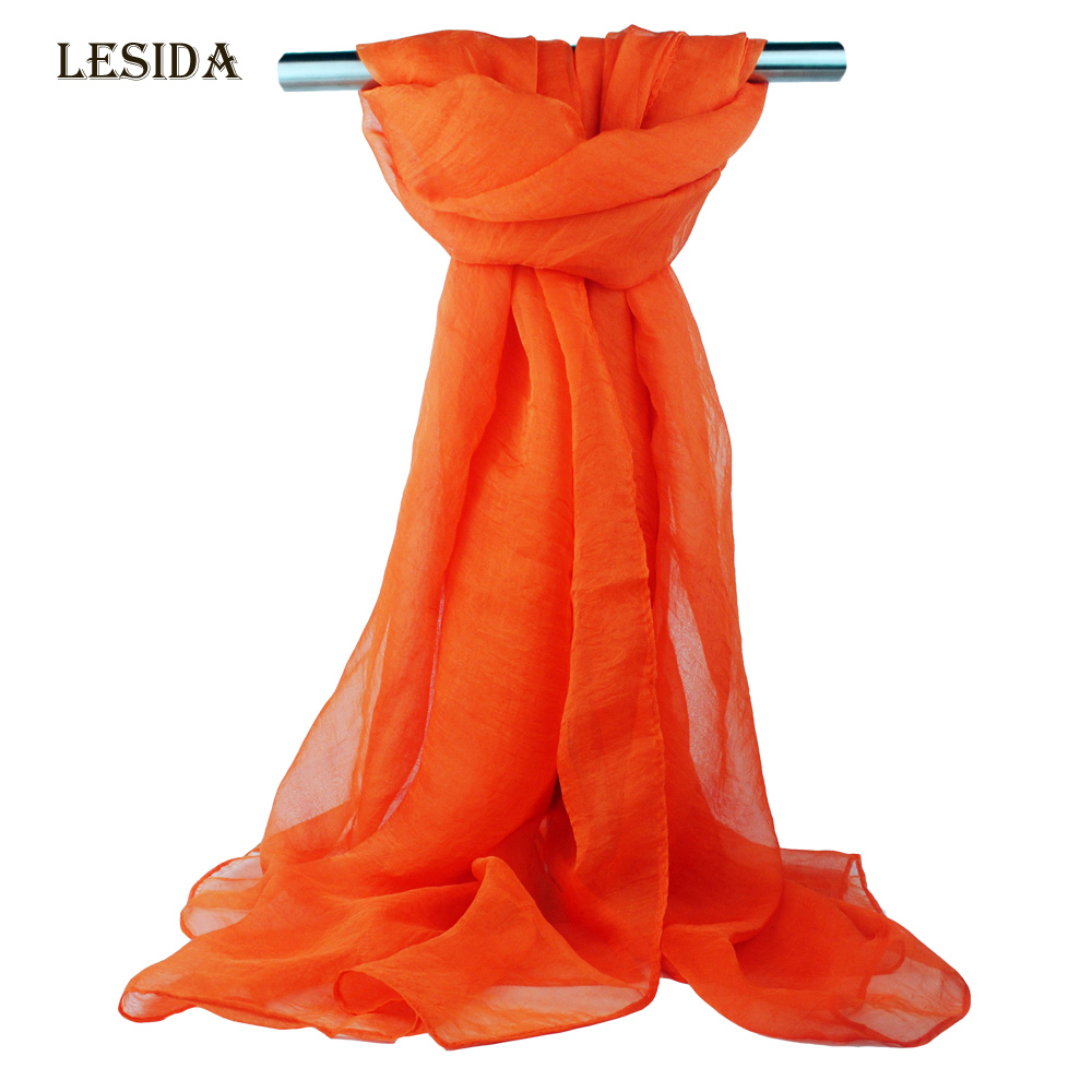 [LESIDA]2016New Fashion Pareo Beach Women Scarfs Solid Color Chiffon Scarves And Stoles Wrap Towels Echarpes Foulard FemmeST8002(China (Mainland))