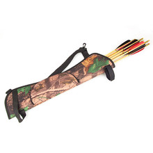 Brand New New Arrival Camo Archery Hunting Bow ARROW BACK /SIDE QUIVER Holder Bag Zipper(China (Mainland))