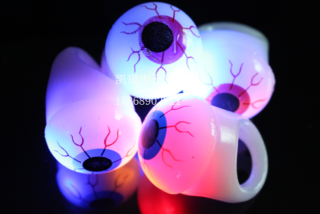 00130014 insolubility ring eyes flash ring light ring lamp halloween masquerade party(China (Mainland))