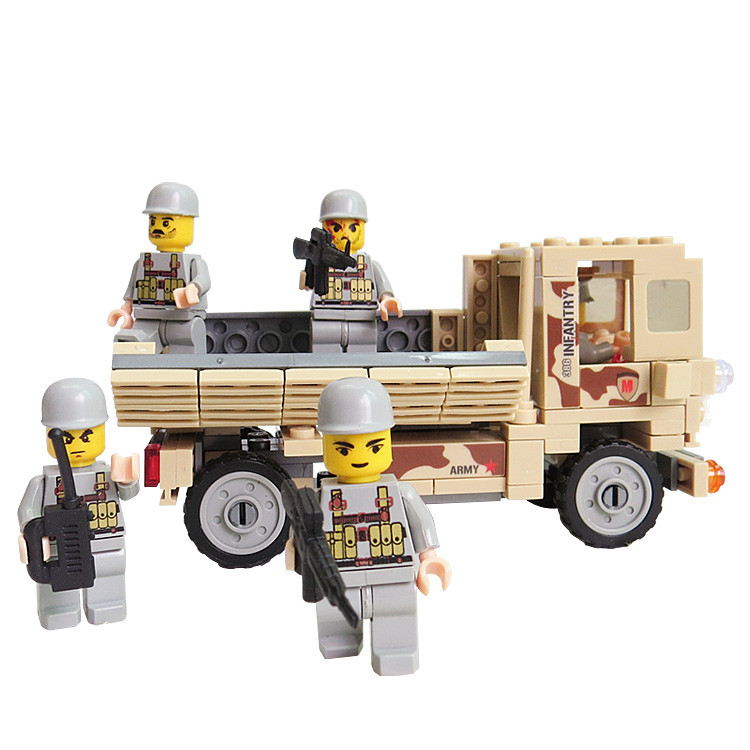 2016 HOT SALES Military Combat Troops Personnel Carriers Army Truck Building Blocks Educational DIY Toys For Children Gift(China (Mainland))