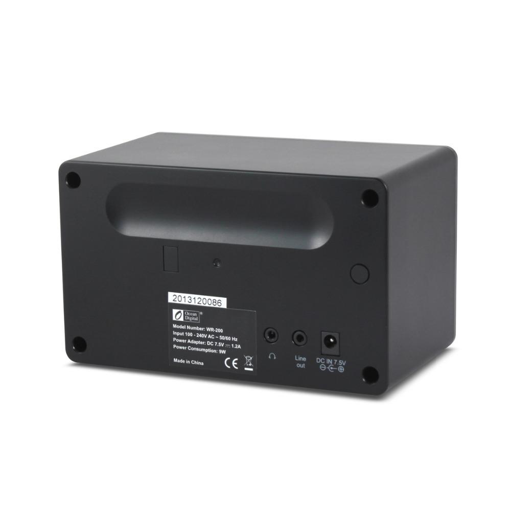 New Black Ocean Digital Home Desktop Music Media Player Wireless WLAN Radios Wi Fi Receiver Internet