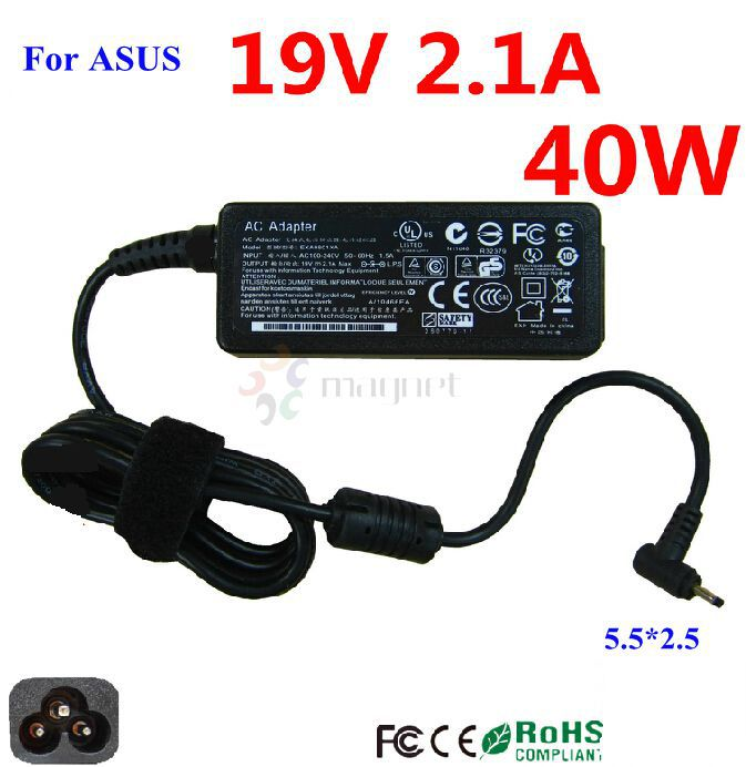 Power Supply For ASUS eee PC Netbook 1015PX 1015PE 1015PW 1015PEM 1005HAG 1001PX 19V2.1A 2.5*0.7 Adapter Charger With AC cord(China (Mainland))