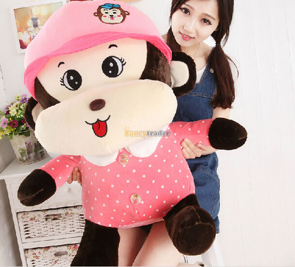 Fancytrader 31 / 80cm Giant Stuffed Soft Plush Lovely Monkey, 2 Colors Available, Free Shipping FT50494<br><br>Aliexpress