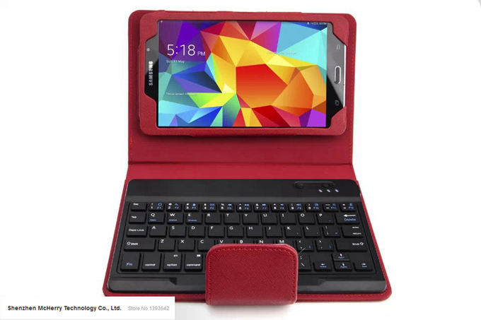 8.4″ Removable Wireless Bluetooth Keyboard Leather Stand Protect Case Cover For SAMSUNG GALAXY Tab S T700 Black White Red Pink