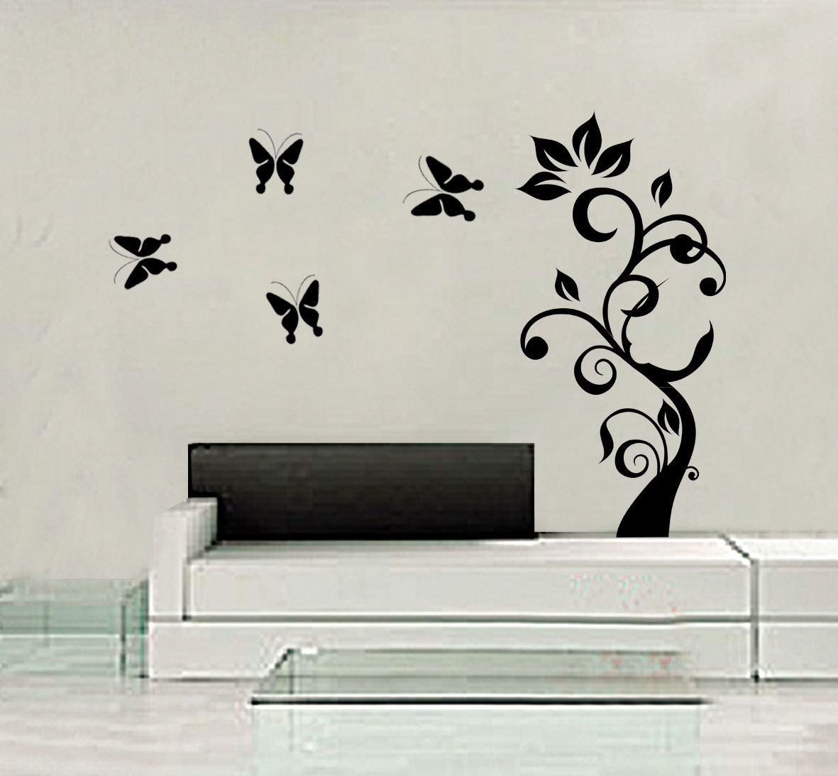 Tree Butterfly DIY Art Wall Decal Decor Room Sticker Vinyl Removable Paper Mural ws106(China (Mainland))