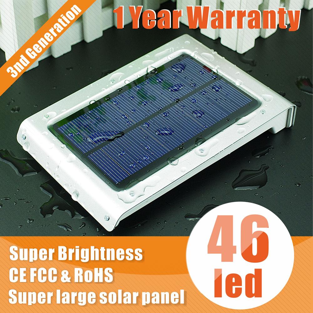 led solar light lamps outdoor 46LED motion sensor solar lamp garden waterproof Outdoor Lighting decoration outdoor luz solar(China (Mainland))