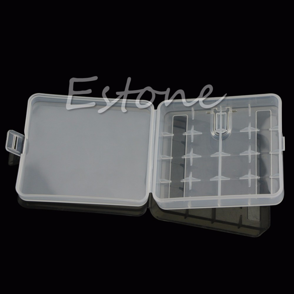 image for Transparent Hard Plastic Case Holder Storage Battery Box For 4 X 18650