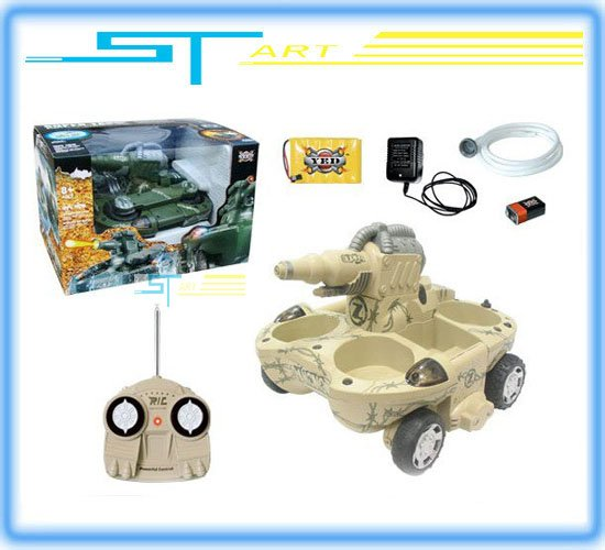 Free Shipping Whoelsale – Newest 24883A RC Tank Radio Remote Control Amphibious Tank water shooting R/C ready to go tan Toy kids