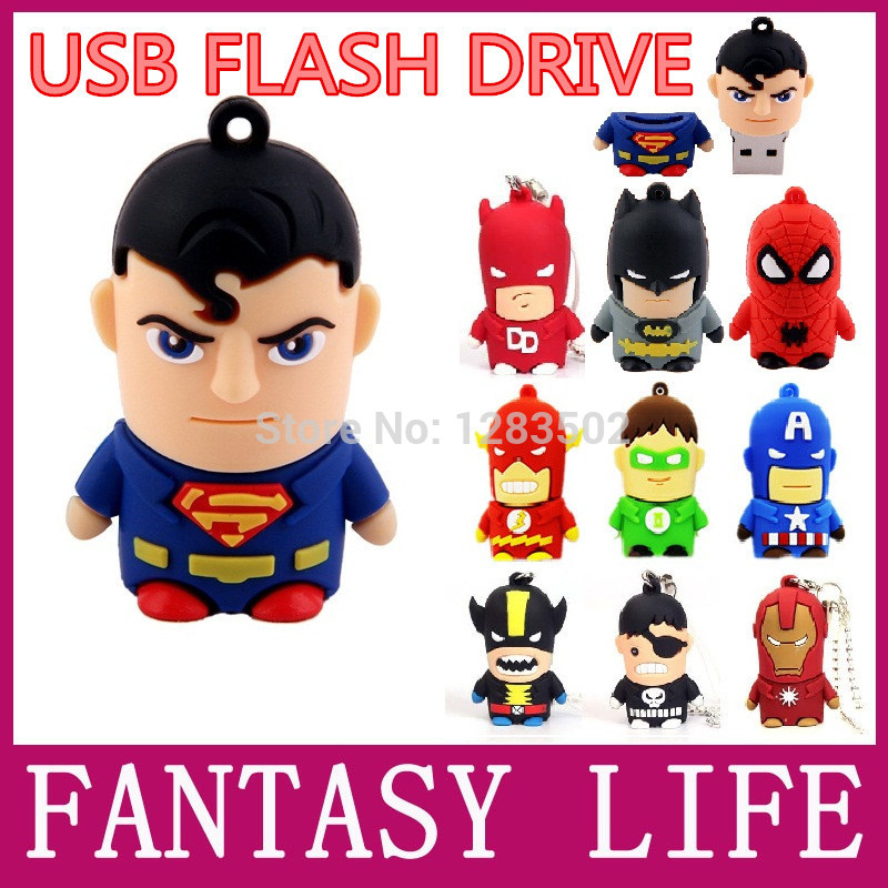 2014 New Flash Drive 64GB 32GB 16GB 8GB cute cartoon the avengers Captain America Pen drive Memory stick usb 2.0 flash drive(China (Mainland))