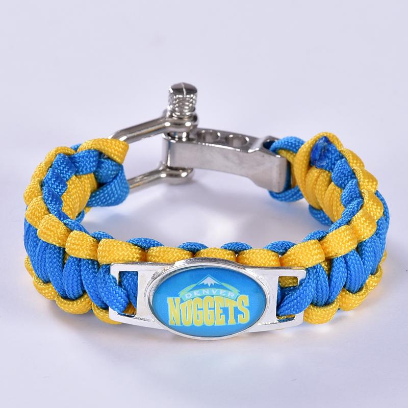 Denver Basketball Team Paracord Bracelet Survival Bracelet, Drop Shipping! 6Pcs/lot!(China (Mainland))