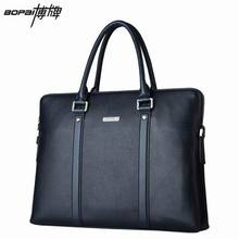 Top Layer Cowhide Genuine Leather Briefcase 2016 New Leather Laptop Bag for Men Handbags Business Portfolios 114-18201(China (Mainland))
