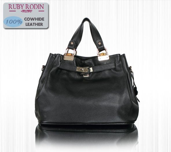 Ladies GENUINE COW LEATHER Handbags,Ladies Shoulder/Tote bag Free shipping