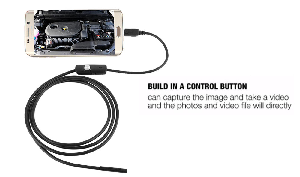 Android Pipe Endoscope Snake Camera With Waterproof 5.5mm