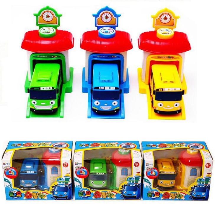 4PCS/SET Kids Toys Tayo The Little Bus Plastic Toy Model Cars Korean Cartoons Tayo Rogi Lani Traffic Safety Education Juguetes(China (Mainland))