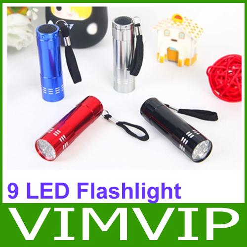 Free shipping New 9 LED Mini Torch Flashlight Light Lamp Keyring