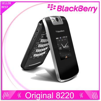 """Мобильный телефон Blackberry 8220, жемчуг перевёрнутый 2.6 """" TFT экран 2.0MP камера GSM wi-fi разблокированный отремонтированный"""
