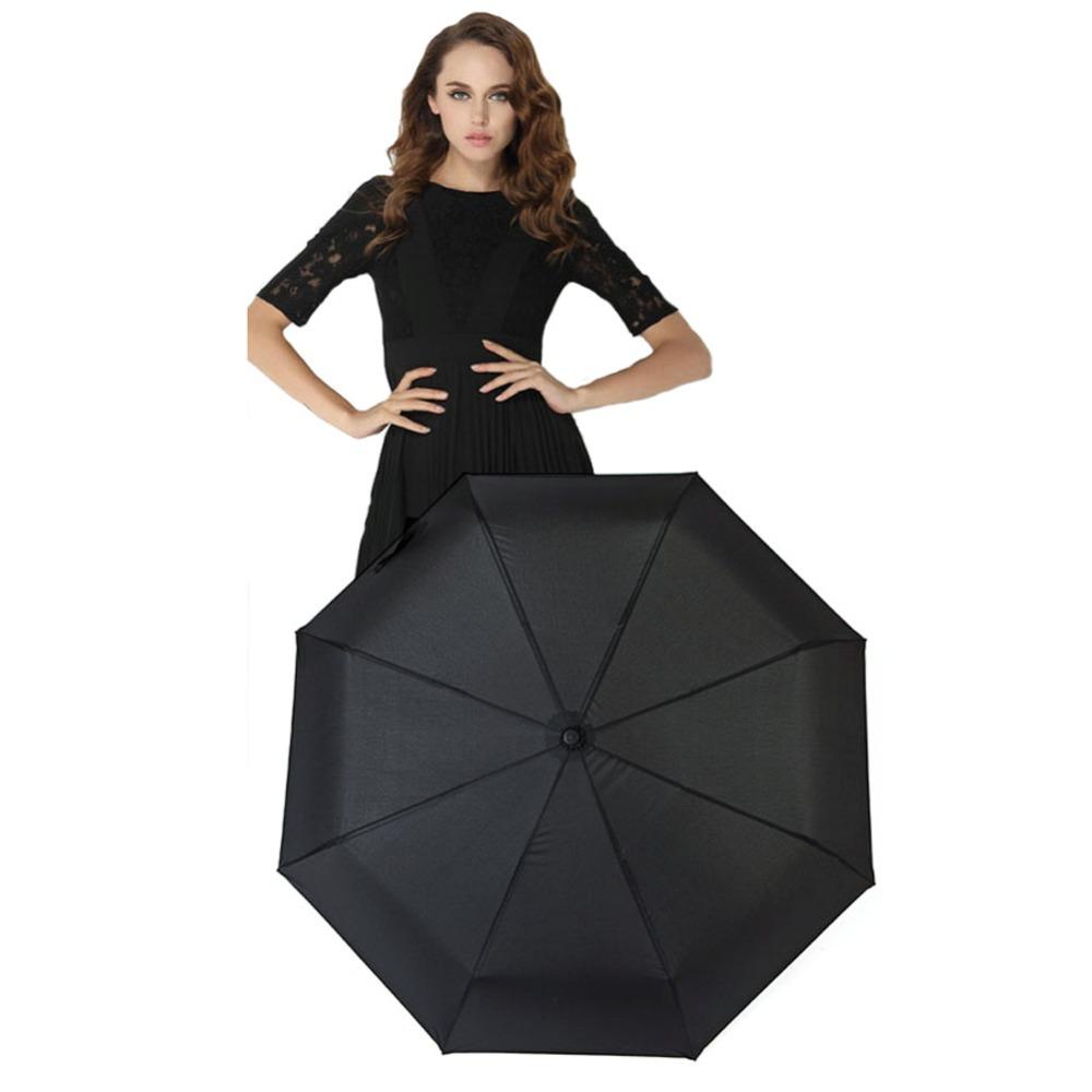 New Automatic Folding Women Men Umbrella 3 fold Windproof Anti-UV Rain Sun Umbrella Auto Open&Close Men's Umbrella 3 Folding(China (Mainland))