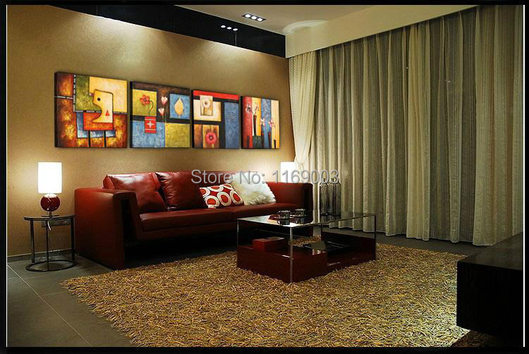 cheap colorful decorative picture oil painting canvas living room