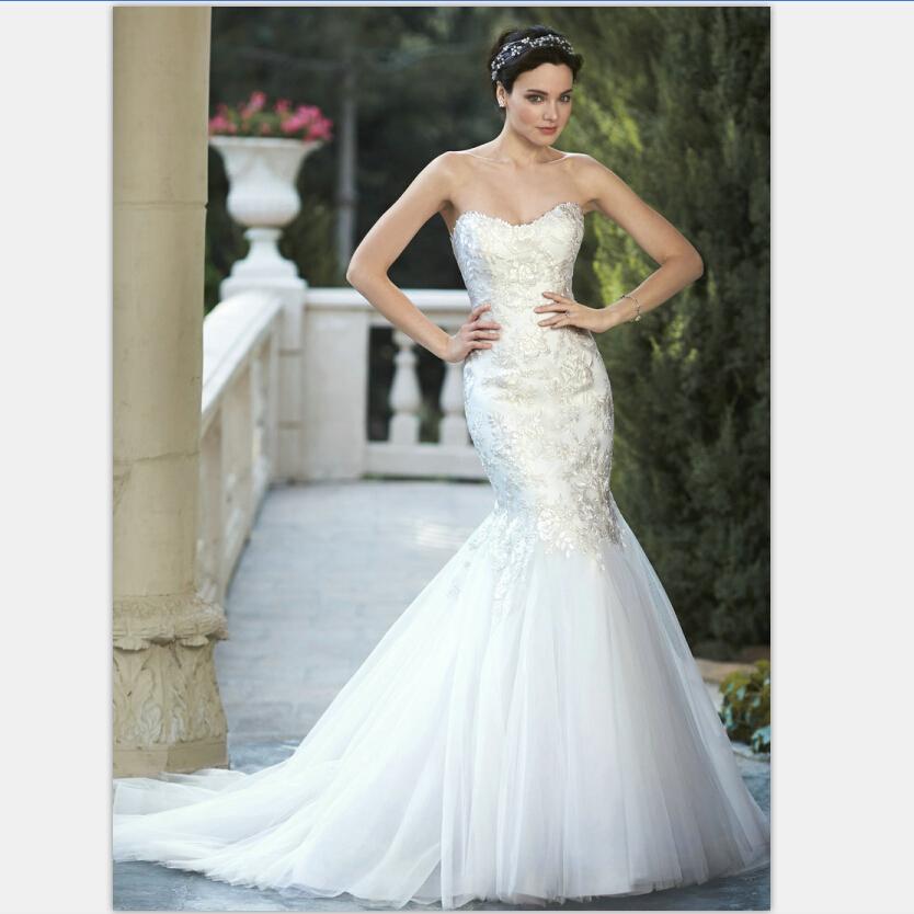 Aliexpress Buy Mermaid Wedding Dress Lace Organza Sweetheart Vestidos Wedding Dresses