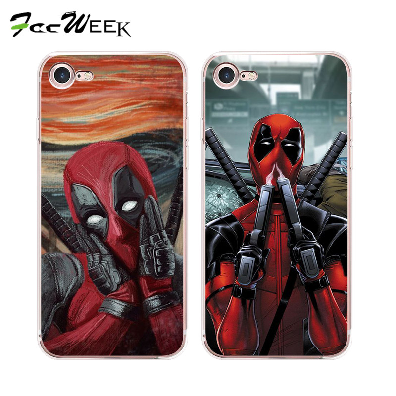 """For Apple iPhone 7 4.7"""" Case Deadpool Unicorn Phone Cases For iPhone 7 Plus 5.5"""" Silicone Soft Back Shell Cover Cell Phone Bag(China (Mainland))"""
