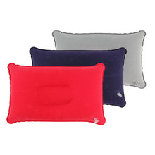1pc Outdoor Portable Folding Air Inflatable Pillow Double Sided Flocking Cushion for Travel Plane Hotel Hot Worldwide(China (Mainland))