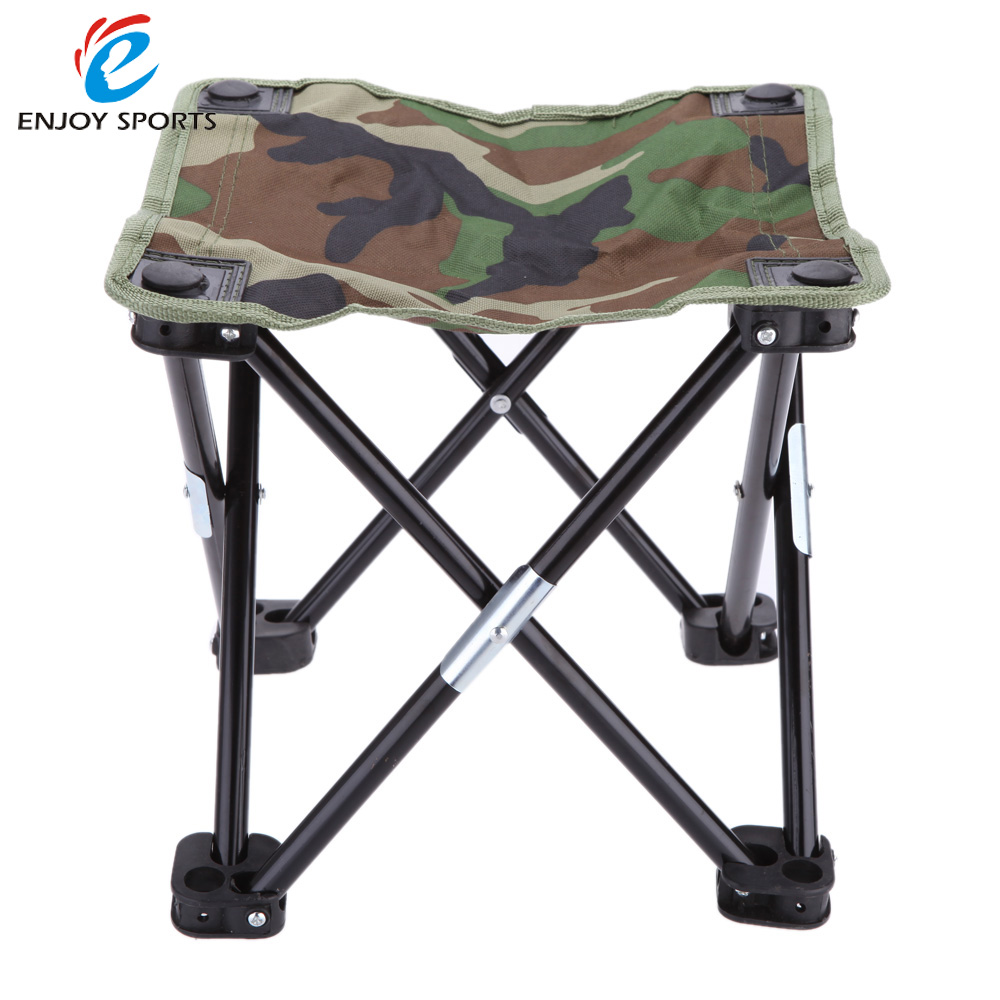 Camouflage Outdoor Camping Folding Fishing Chair Seat for Festival Picnic BBQ Beach 28 * 28 * 23cm Portable Breathable Stool(China (Mainland))