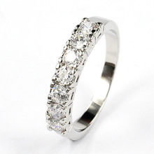 Hot selling Customized Korean jewelry Ring AAA zircon wedding party fashion jewelry gift wholesale 60pcs/lot