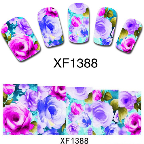 sheet-Nail-Art-Tip-Water-Transfers-Sticker-Flower-Painting-Tips ...