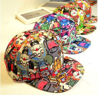 Women Casual Cap Cartoon Zombie Print Baseball Caps Fashion Fluorescence Color Vampire Pattern Flat Hat Hip Hop CP058