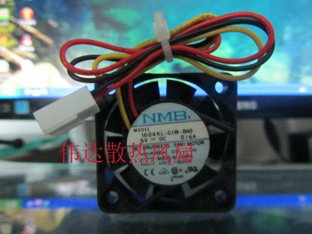 1604KL-01W-B40 4010 4cm 5V 0.16A 3 wire dual ball bearing fan(China (Mainland))
