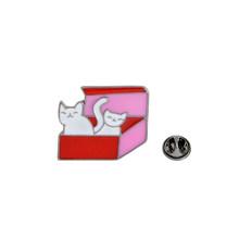 QIHE QH-GIOIELLI Gatto In UNA Scatola di Spilli Collezione Zampa di Gatto Gatto Stampa Spille Gatto Risvolto Spille Kitty Distintivi e Simboli Della Ragazza Delle Donne di Animale amante Dei Monili di(China)