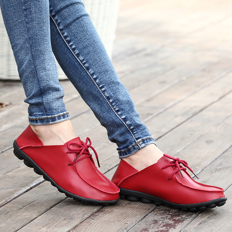 2015 spring and autumn women flats shoes women genuine leather shoes women Oxfords moccasins high quality cowhide sneakers 810(China (Mainland))