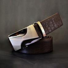 REGEM Auto Lock Buckle Blet Men's Genuine Leather Belt Luxury Dress Belt(China (Mainland))