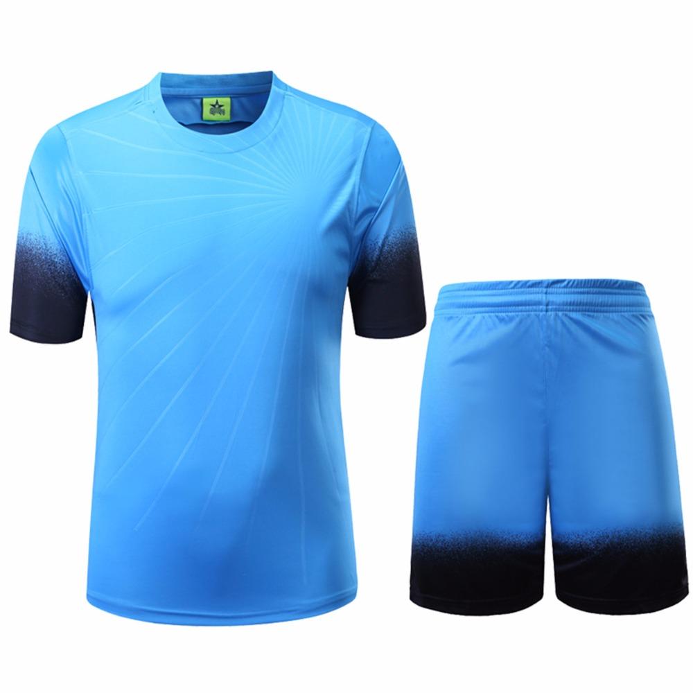 Mens Football Jerseys Breathable Soccer Training Sets Anti-Shrink Boys Football Jersey Sports Uniform Jersey Camisetas de Futbol(China (Mainland))