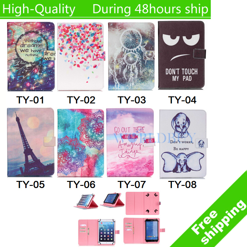 Universal Horizontal Flip Pattern Painted Style Leather Case with Holder Card Slots for 9 10 inch Tablet PC<br><br>Aliexpress