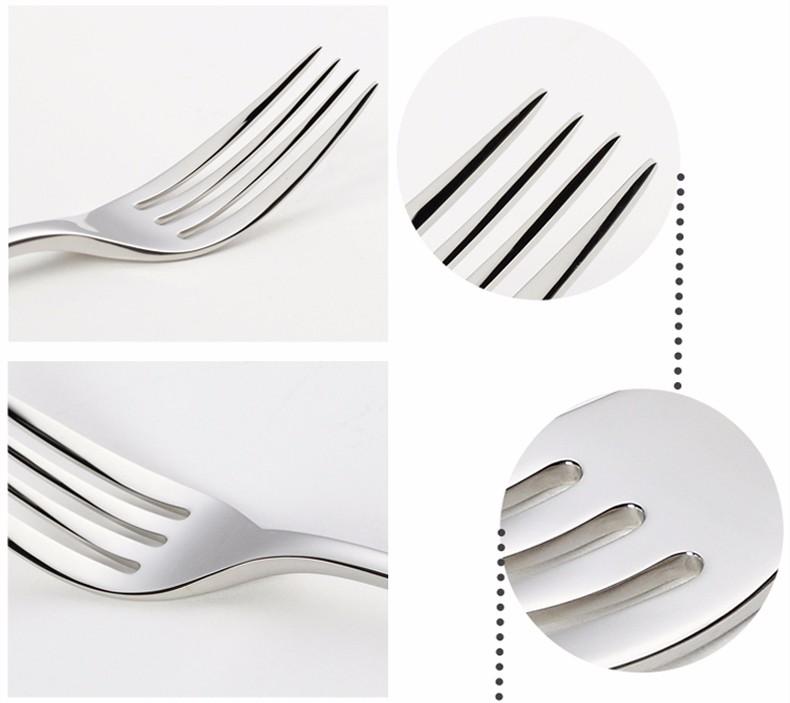 Buy Dinnerware Set Steel Luxury Cutlery Set Vintage Quality 24 Piece Table Knife Fork Spoon Dining Set Dinner Set Western Food Salad cheap