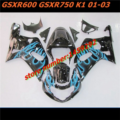 HOT ! For Suzuki Motocycle Accessories GSXR 600 GSXR 750 GSXR600 FAIRING 01-03 GSXR750 K1 kit SUZUKI Fairing GSX R600 K1 kit(China (Mainland))