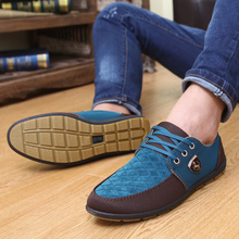 2016 New Spring And Autumn Men Shoes Men Flats Canvas Lacing Shoes Breathable Casual Shoes Single Flats Men Fashion Summer Style(China (Mainland))