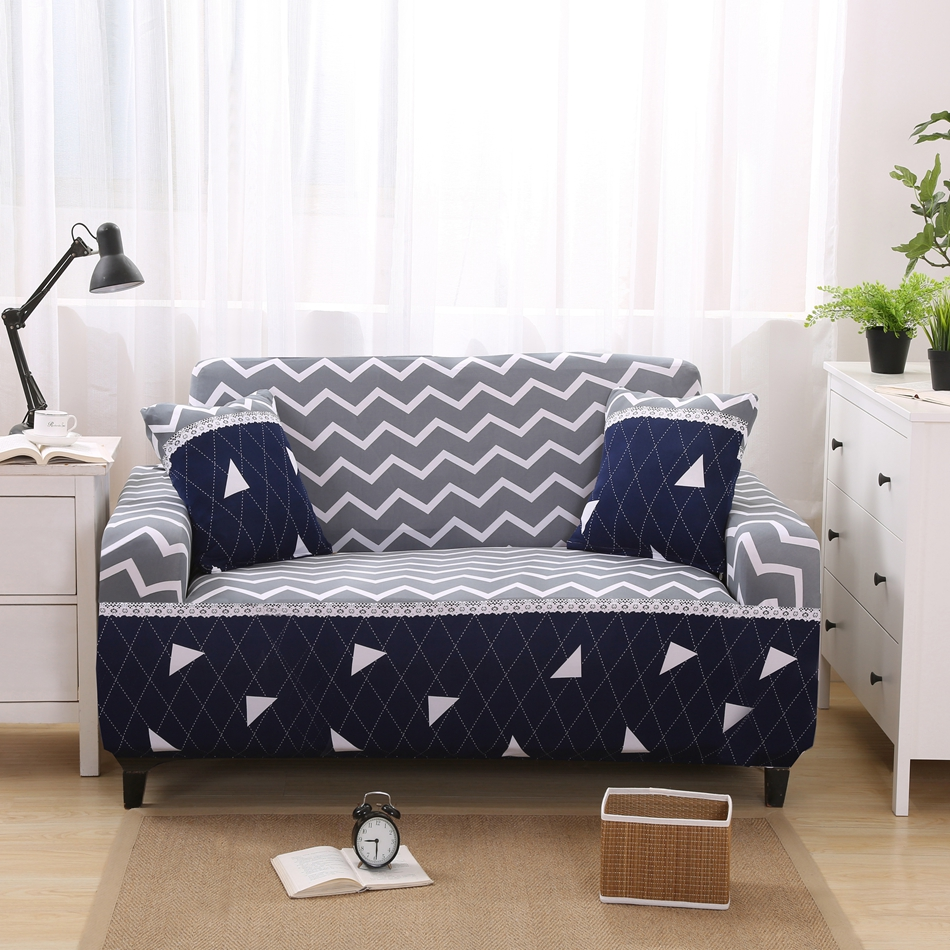 Stripe geometric design fabric cover sofa new pattern sectional sofa cover for living room loveseat slipcover for 1 2 3 4 seat(China (Mainland))