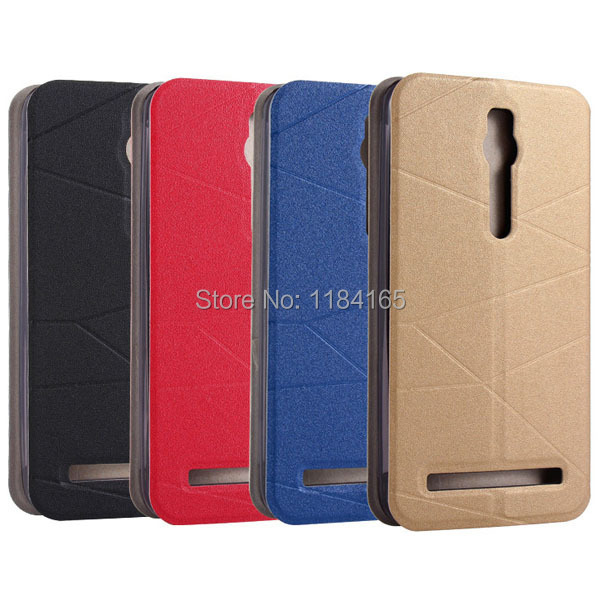 KOC-1629_5_Fashion Call Display ID Leather Case with Sleep Wake-up Function & Holder for ASUS Zenfone 2 ZE551ML