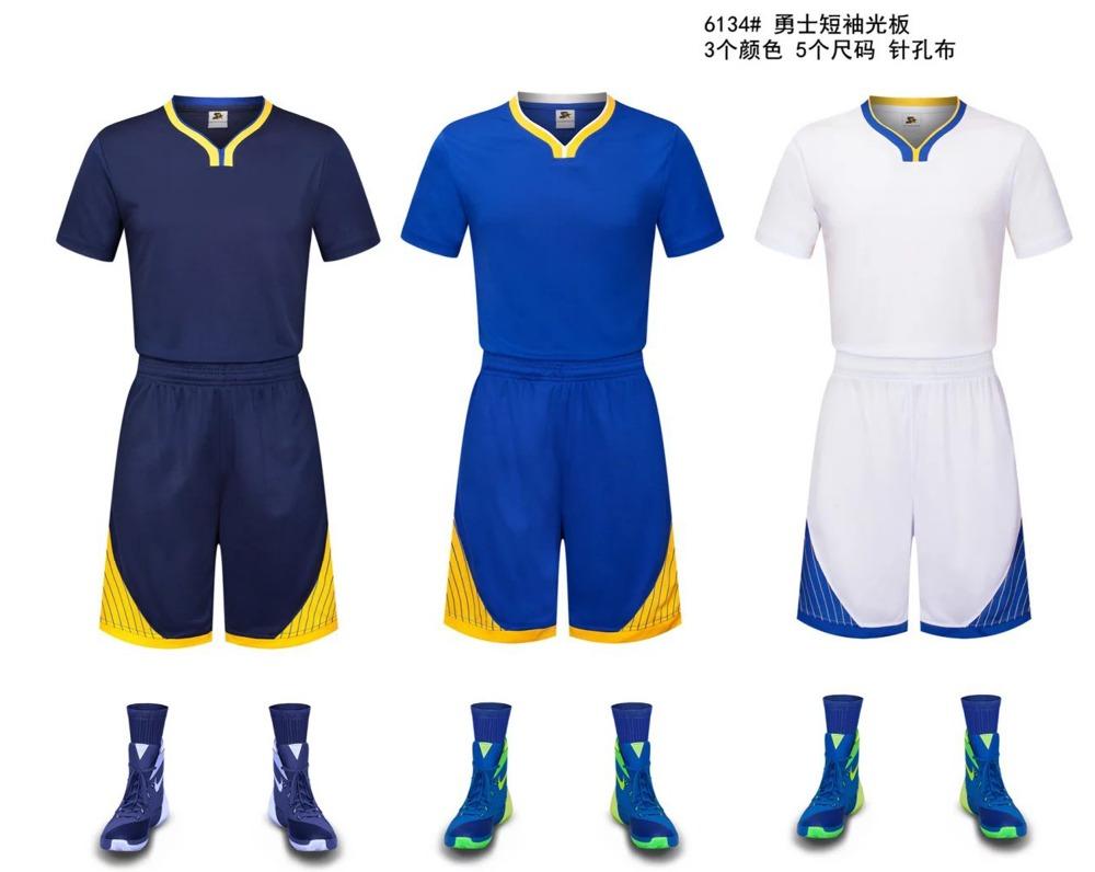 2016 blank basketball uniform kits basketball sports shirt &short blank basketball jerseys custom name and number free shipping(China (Mainland))