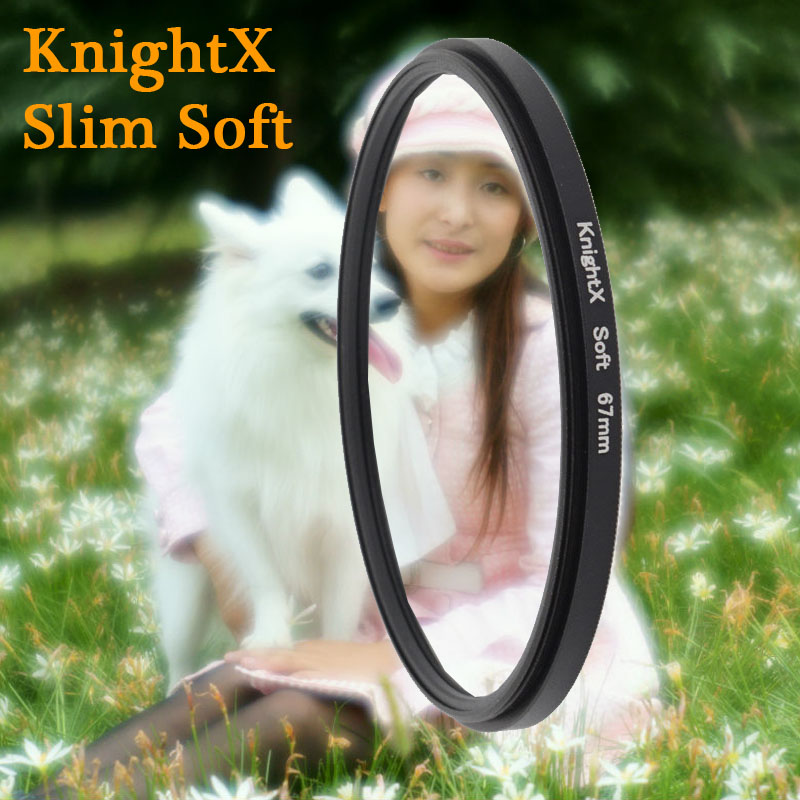 Soft Focus Effect Diffuser Lens Filter For Sony Canon Nikon 52mm 58mm 67mm Lens SLR camera 2015 new KnightX  + tracking 112 K